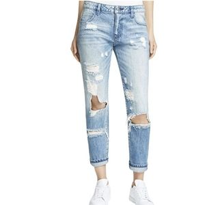 Hidden Destroyed slouch Boyfriend Jeans